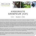 Offre emploi Arboriste Grimpeur
